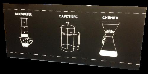 Coffee chalkboard