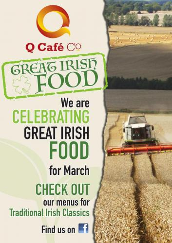 Q Cafe Great Irish Food Poster A3 print