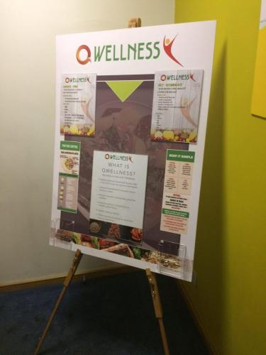 nutritional board and easel